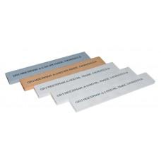 Набор 5 (пять) камней GRINDERMAN 25х6х152мм из оксида алюминия (F120, F220, F400, F600, F1000)  Российского производства