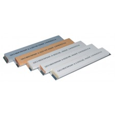 Набор 5 (пять) камней GRINDERMAN 25х6х152мм из оксида алюминия (F120, F220, F400, F600, F1000) на бланках