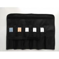 Набор 5 (пять) камней GRINDERMAN 25х6х152мм из оксида алюминия (F120, F220, F400, F600, F1000) на бланках в сумке-скрутке